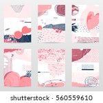 vector collection of unusual... | Shutterstock .eps vector #560559610