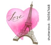 hand drawn writing of love with ... | Shutterstock .eps vector #560567668