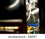 peaking inside a computor. | Shutterstock . vector #56057