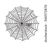 cobweb illustration isolated on ... | Shutterstock .eps vector #560572870