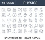 set vector line icons  sign and ... | Shutterstock .eps vector #560572933