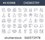 set vector line icons  sign and ... | Shutterstock .eps vector #560572978