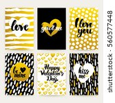 valentines day trendy brochures.... | Shutterstock .eps vector #560577448