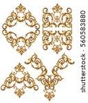 golden baroque  | Shutterstock . vector #560583880