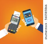 mobile pay  payment for... | Shutterstock .eps vector #560585866