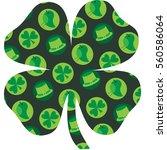 saint patrick's day pattern on... | Shutterstock .eps vector #560586064