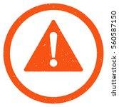 warning rubber seal stamp...