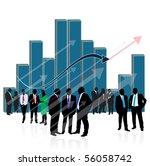 business people and graph | Shutterstock .eps vector #56058742