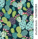 vector seamless pattern with... | Shutterstock .eps vector #560588584