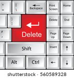 computer keyboard with delete   ...
