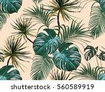 beautiful seamless vector... | Shutterstock .eps vector #560589919