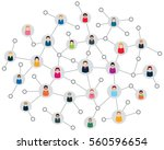social network scheme  which... | Shutterstock .eps vector #560596654