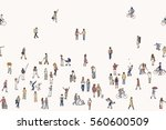 seamless banner of tiny people  ... | Shutterstock .eps vector #560600509