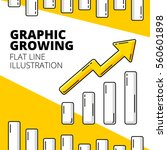 graphic growing. colored flat... | Shutterstock .eps vector #560601898