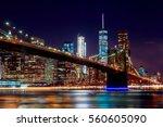 Brooklyn Bridge At Dusk Viewed...