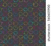 speech bubbles seamless pattern | Shutterstock .eps vector #560605900