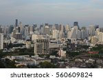cityscape under clouds and blue ... | Shutterstock . vector #560609824