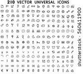 set 210 universal theme vector... | Shutterstock .eps vector #560611900
