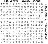 set 210 universal theme vector... | Shutterstock .eps vector #560611900