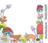 set of decorative forest...   Shutterstock .eps vector #560614009