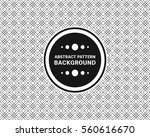 pattern overlapping hexagonal... | Shutterstock .eps vector #560616670