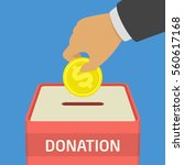 donate money and charity... | Shutterstock .eps vector #560617168