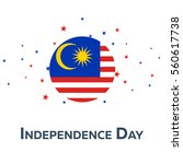 independence day of malaysia.... | Shutterstock .eps vector #560617738