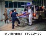 patient emergency with team... | Shutterstock . vector #560619430