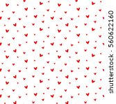 seamless heart pattern vector... | Shutterstock .eps vector #560622160