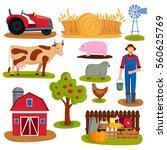 Farm Icon Vector Illustration.