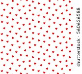 seamless heart pattern vector... | Shutterstock .eps vector #560626588