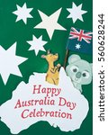 Small photo of Celebrate Australia Day holiday on January 26 with a Happy Australia Day message greeting written