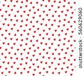 seamless heart pattern vector... | Shutterstock .eps vector #560629060