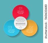 vector infographic template  3... | Shutterstock .eps vector #560633680