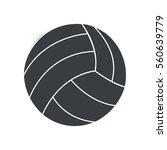 silhouette ball volleyball... | Shutterstock .eps vector #560639779