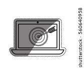 laptop pc technology icon... | Shutterstock .eps vector #560640958