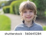 portrait of a boy with blurred...   Shutterstock . vector #560645284