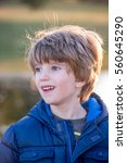 portrait of a boy with blurred...   Shutterstock . vector #560645290