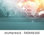 medical abstract background ... | Shutterstock . vector #560646160
