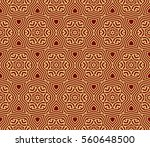 red and gold color seamless... | Shutterstock . vector #560648500