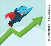 business bird with superpower...   Shutterstock .eps vector #560653273