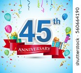 45th years anniversary... | Shutterstock .eps vector #560664190