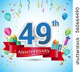 49th years anniversary... | Shutterstock .eps vector #560664490