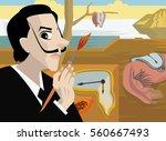 great surrealist painter...   Shutterstock .eps vector #560667493