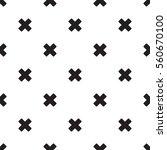 seamless x cross pattern on... | Shutterstock .eps vector #560670100