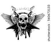 vector illustration skull in... | Shutterstock .eps vector #560673133