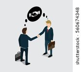 business people handshake for... | Shutterstock .eps vector #560674348