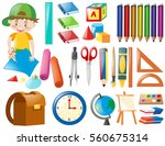 different objects for school... | Shutterstock .eps vector #560675314