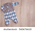 romper and bow tie. clothes for ... | Shutterstock . vector #560676610