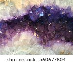 Purple Geode Gemstone Background